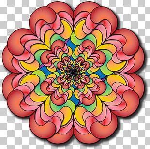 Dahlia Floral Design Symmetry Cut Flowers Pattern PNG