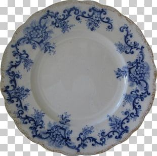 Plate Ceramic Platter Blue And White Pottery Saucer PNG