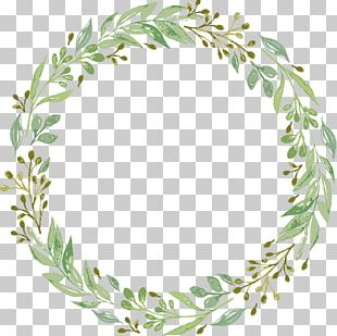 Wedding Invitation Wreath Garland PNG