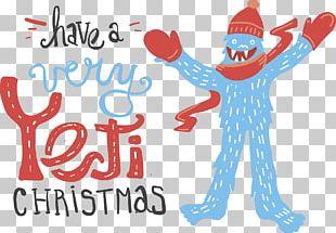 Bigfoot Christmas Yeti Illustration PNG