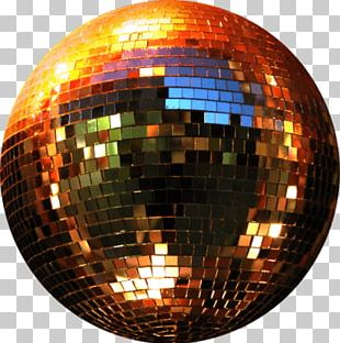 Copper Gold Disco Ball PNG
