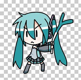 Hatsune Miku Chibi Otaku PNG