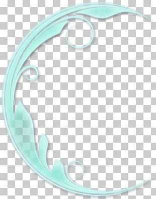 Turquoise Circle Font PNG