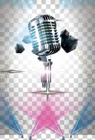 Microphone Poster Stage PNG