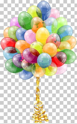 Balloon Birthday Cake Party Gift PNG