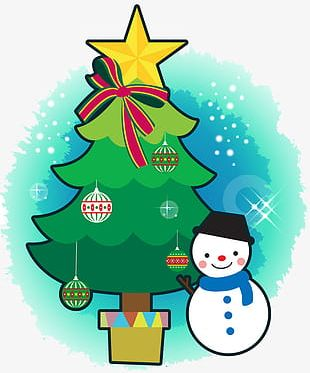 Snowman Christmas Tree PNG