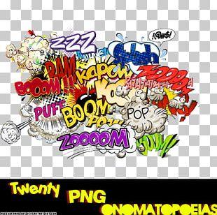 Onomatopoeia Comics Comic Book Art PNG
