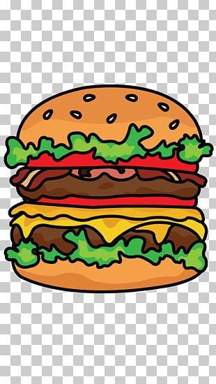 Whopper Hamburger Cheeseburger French Fries Fast Food PNG