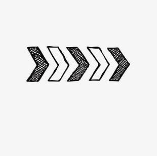 Hand-painted Black And White Zebra Arrow PNG