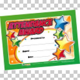 Perfect Attendance Award School Academic Certificate Graduation Ceremony Standard Paper Size PNG