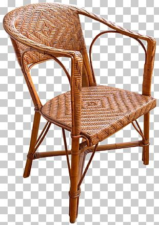 Table Chair Wicker Furniture Rattan PNG