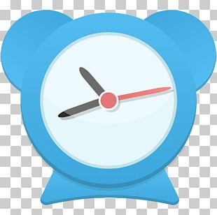 Alarm Clock Electric Blue PNG