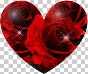 Blue Rose Heart PNG