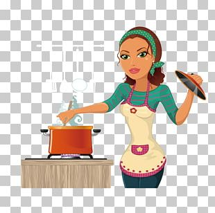 The Kitchen Cooking Chef Woman PNG