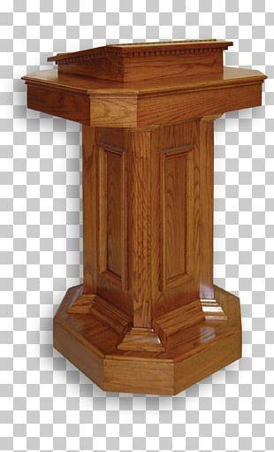 Pulpit Lectern Altar Chancel Furniture PNG