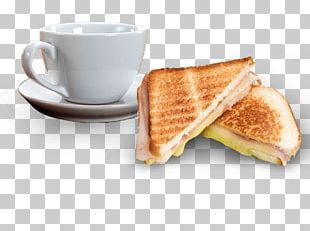 Breakfast Sandwich Toast Ham And Cheese Sandwich Coffee PNG