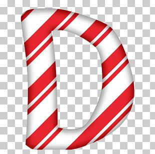 Candy Cane Santa Claus Alphabet Letter Christmas PNG