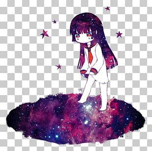 Galaxy Girl Anime Girl Chibi PNG