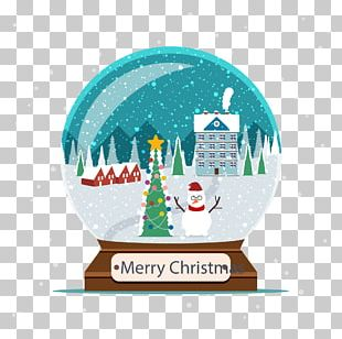 Christmas Tree Snow Crystal Ball PNG