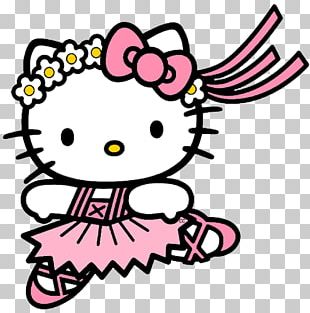 Hello Kitty Coloring Book Ballet Dancer Ballet Shoe PNG