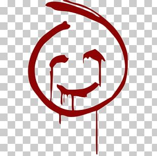 Red John Smiley T-shirt Emoticon PNG