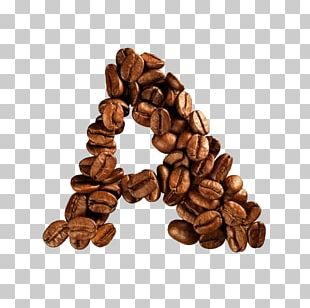 Coffee Bean Alphabet Letter Cafe PNG
