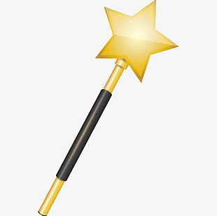 Gold Star Magic Wand PNG