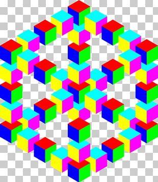 Optical Illusion Optics Cube PNG
