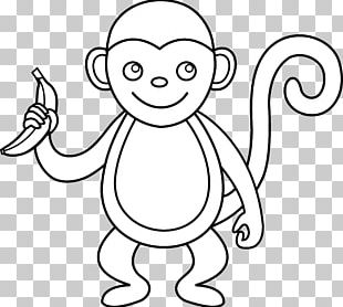Spider Monkey Black And White PNG