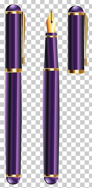 Paper Ballpoint Pen Purple PNG
