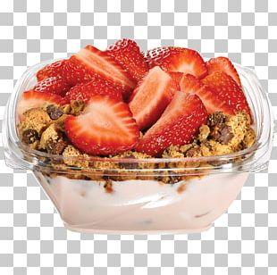 Muesli Frozen Dessert Strawberry Recipe PNG