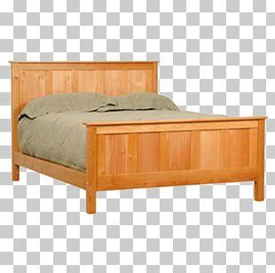 Bed Frame Platform Bed Headboard Mission Style Furniture PNG