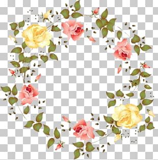 Flower Wreath Watercolor Painting Floral Design PNG