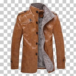 Leather Jacket Coat Casual PNG