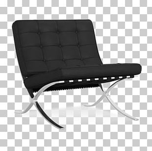Barcelona Chair Couch Furniture Design PNG