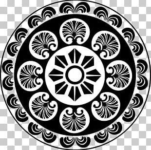 Black And White Motif Pattern PNG