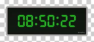 Radio Clock Display Device Digital Clock PNG