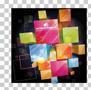 Color 3D Computer Graphics Three-dimensional Space Abstract Art PNG