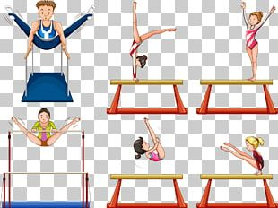 Artistic Gymnastics Illustration PNG