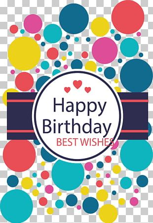 Colorful Wave Dot Decoration Birthday Poster PNG