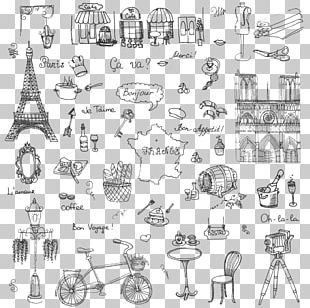 Paris French Cuisine Drawing PNG