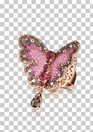 Butterfly Brooch Jewellery Ring Gemstone PNG