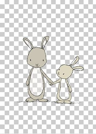 Easter Bunny White Rabbit Bunny Story Drawing PNG