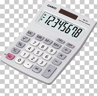 Casio MX8 Desk Top Calculator Casio SL-300VER Scientific Calculator PNG