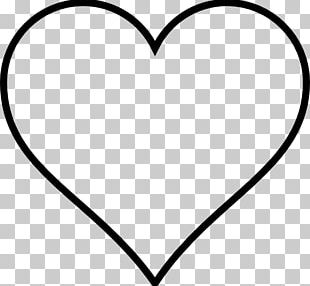 Heart Outline Drawing Valentine's Day PNG