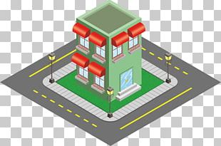 Isometric Projection Building Sketch PNG