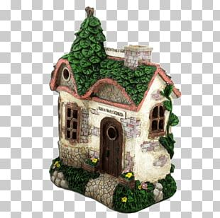 Angelet De Les Dents Fairy Garden House Solar Power PNG