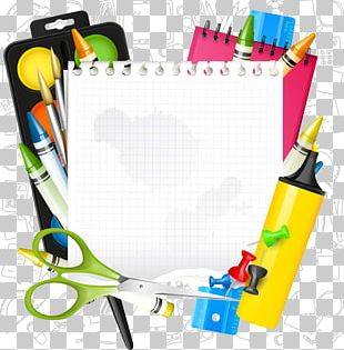 Paper School Supplies Icon PNG