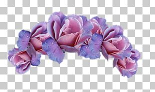Cut Flowers Purple Wreath Crown PNG
