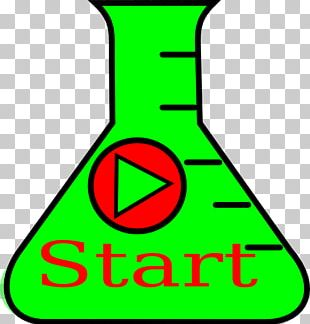 Erlenmeyer Flask Laboratory Flasks Chemistry Green PNG